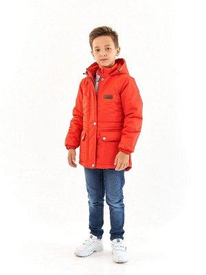 Парка зимняя для мальчика Мембрана красный (t до -25)