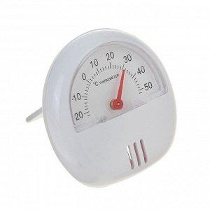 Термометр универсальный. механический. крепление магнит. d=5.5 см. белый