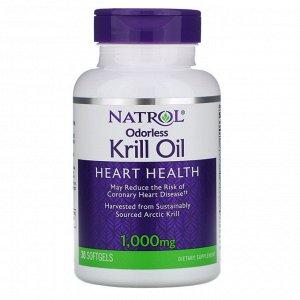 Natrol, Жир криля без запаха, 1000 мг (30 мягких таблеток)