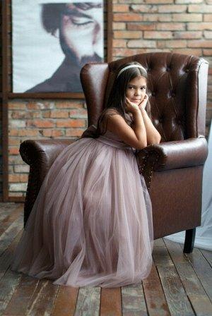 Платье Classic бант с лентами цвет тауп