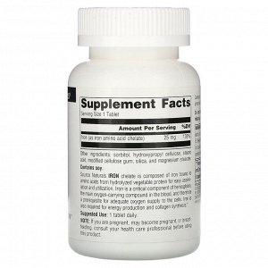Source Naturals, Железо, 25 мг, 250 таблеток