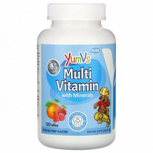 YumV&#x27 - s, Multi Vitamin with Minerals, Delicious Fruit Flavors, 120 Jellies