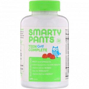 SmartyPants, Teen Guy Complete, комплекс для мальчиков-подростков, лимон и лайм, вишня, кислое яблоко, 120 жевательных таблеток