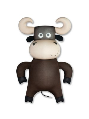 """Антистрессовая игрушка Бык """"Гром"""",темно-коричневый"""