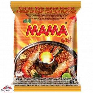 Лапша тайская ТМ Мама со вкусом кремовый Том Ям брикет 55 гр