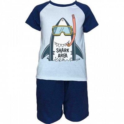 ИВАНОВО Марьяша 31 Мир принтов для взрослых и детей — Пижамы для мальчиков с коротким рукавом — Для мальчиков