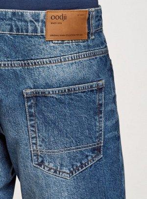 Шорты джинсовые с потертостями