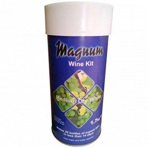 Dry White Винный набор «Magnum» Medium Dry White - концентрат белого сухого вина, которое имеет освежающий элегантный аромат, чистый, свежий вкус с нотами лимона, яблока и дыни. За счет отсутствия сах