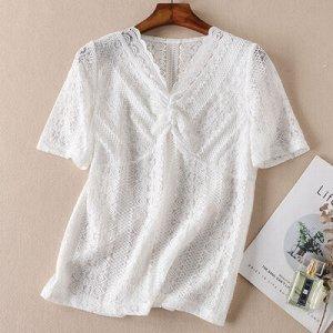 Блузка L // длина платья 57см, обхват груди 82-92см, длина рукава 24см.  XL // Длина 58 см, обхват груди 86-96 см, рукав 25 см