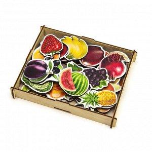 """Пазл-набор """"""""Овощи, фрукты, ягоды"""""""" (дер.коробка), 111401"""