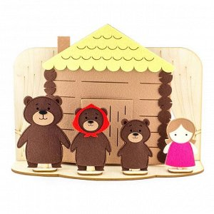 Настольный театр «Три медведя» (полный набор) (Фетр), 1001003