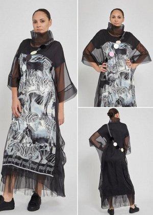 Шикарное платье с подвеской