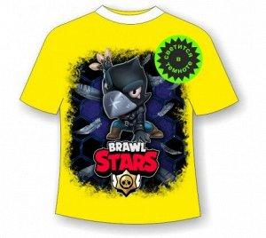 Подростковая футболка Brawl Stars Crow 1084 ЖЕЛТАЯ