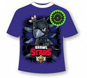 Подростковая футболка Brawl Stars Crow 1084 Т. СИНИЙ