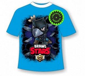 Подростковая футболка Brawl Stars Crow 1084 БИРЮЗА