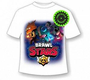 Подростковая футболка Brawl Stars Герои 1105 БЕЛАЯ