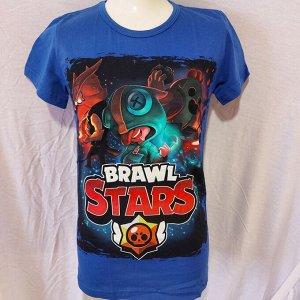 Подростковая футболка Brawl Stars Герои 1105 СИНИЙ