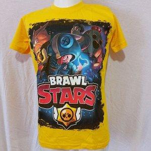 Подростковая футболка Brawl Stars Герои 1105 ЖЕЛТАЯ
