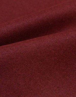 Ткань пальтовая шерстяная, цв.Темная вишня, ш.1.5 м, шерсть-91%, ПА-9%, 425 гр/м.кв