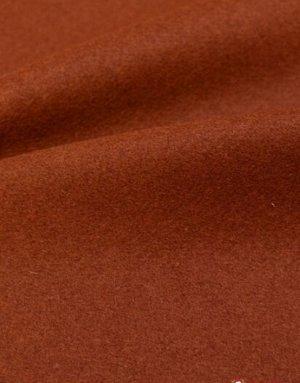 Ткань пальтовая шерстяная, цв. Темный терракот, ш.1.5 м, шерсть-91%, ПА-9%,425 гр/м.кв