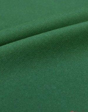 Сукно цв.Яркий изумруд, ш.1.5 м, шерсть-83%, ПА-17%, 281 гр/м.кв
