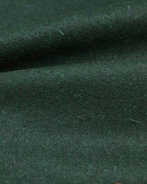 Ткань костюмная шерстяная, цв.Темная хвоя, ш.1.5 м, шерсть-83%, ПА-17%, 280 гр/м.кв