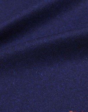 Ткань костюмная шерстяная, цв.Чернильно-синий, ш.1.5 м, шерсть-83%, ПА-17%, 280 гр/м.кв