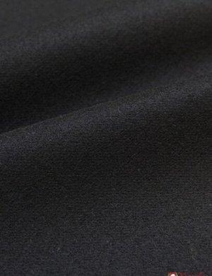 Ткань костюмная шерстяная, цв.Черный, ш.1.5 м, шерсть-80%, ПА-20%, 366 гр/м.кв