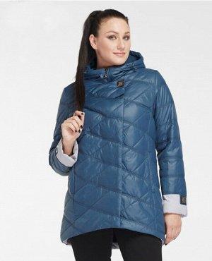 Демисезонная женская куртка с капюшоном, цвет темно-синий