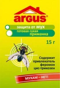 От мух приманка сухая 15гр., пакет ARGUS (феромон+инсектицид)