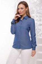 Рубашка 1849 светлый джинс