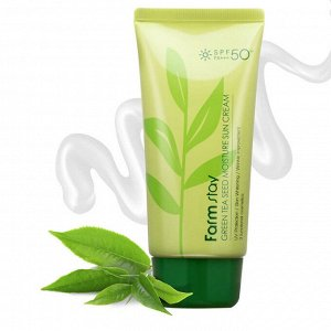 Солнцезащитный крем с зелёным чаем SPF50/PA+++ Farm Stay
