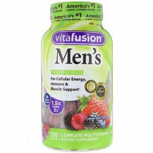 VitaFusion, Комплексные мультивитамины для мужчин, натуральные ягодные вкусы, 150 жевательных таблеток