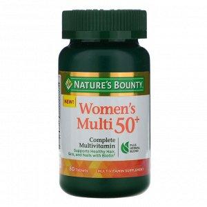 Nature&#x27 - s Bounty, Мультивитамин для женщин от 50 лет, полный комплекс мультивитаминов, 80 таблеток