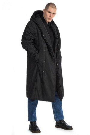 ПАЛЬТО Стильное длинное пальто прямого силуэта с длиной ниже колена. Два боковых и два внутренних кармана, застежка-кнопки. Благодаря утеплителю Slimtex, пальто эффективно защищает от холода до -25°С.