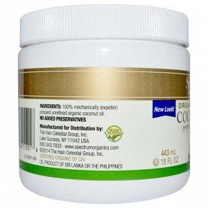 Spectrum Essentials, Органическое нерафинированное кокосовое масло, 443 мл (15 жидких унций)