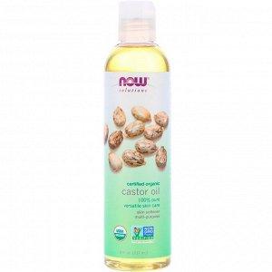 Now Foods, Solutions, сертифицированное органическое касторовое масло, 8 ж. унц. (237 мл)