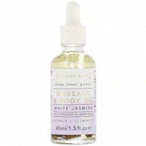 Sunday Rain, Deep Inner Peace, Massage & Body Oil, White Jasmine, 1.5 fl oz (45 ml)