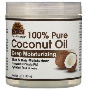 Okay Pure Naturals, 100% Pure Coconut Oil, Deep Moisturizing, 6 oz (177 ml)
