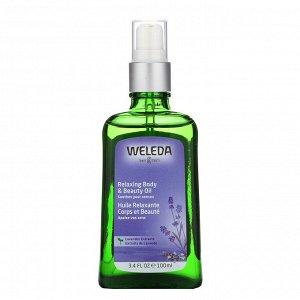 Weleda, Расслабляющее масло для тела и красоты, Экстракты лаванды, 3.4 ж. унц.(100 мл)