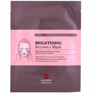 Leaders, Coconut Gel Brightening Recovery Mask, 1 Sheet, 30 ml