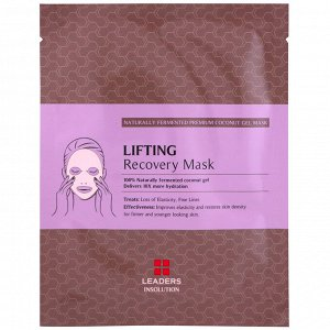 Leaders, Coconut Gel Lifting Recovery Mask, 1 Sheet, 30 ml