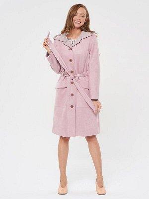 Пальто Цвет: Розовый.  Состав: Полиэстер 92%, Спандекс 8