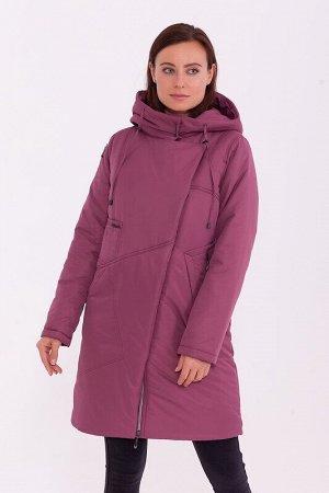 Пальто Описание: Тёплое пальто в спортивном стиле с капюшоном, асимметричной застёжкой молнией и кнопках. Интересные футуристичные карманы подчёркивают стиль. Цвет: Брусничный.  Состав: Полиэстер 78%,