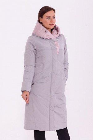 Пальто Описание: Комфортное лёгкое тёплое пальто прямого свободного силуэта с воротником- шалька, мягко переходящим в капюшон, ветрозащитной планкой, прорезными карманами и трикотажными манжетами. Цве