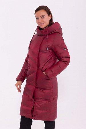 Пальто Описание: Модное, оригинальное , и в то же время очень простое пальто украсит гардероб в холодные зимние дни. Пальто с асимметричной застёжкой полуприлегающего силуэта с капюшоном, удобными про