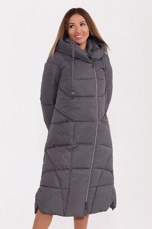 Пальто Описание: Длинное зимнее пальто, подчеркивающее вашу индивидуальность и создающее идеальный силуэт . Широкий борт, открытая молния. Фигурные шлицы по бокам и шлица сзади, интересный цельнокроен