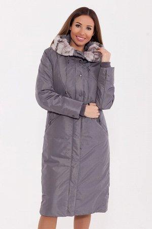 Пальто Описание: Замечательное тёплое пальто прямого силуэта с капюшоном, меховой отделкой, трикотажными манжетами и прорезными карманами. Ветрозащитная планка украшена функциональными кнопками. Цвет: