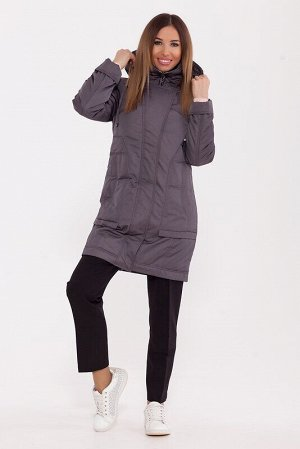 Пальто Описание: Модное зимнее пальто длиной выше колена. Спереди – широкая, закрывающая молнию фигурная планка с потайными кнопками , а также интересный настрочной вертикальный карман на молнии. Капю