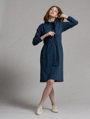 Платье Цвет: Индиго.  Состав: Хлопок 92%, Эластан 8%